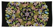 Floral Mandala Pattern Bath Towel