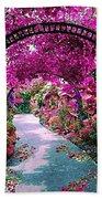 Floral Pathway Bath Towel