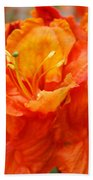 Floral Rhodies Art Prints Orange Rhododendrons Canvas Art Baslee Troutman Bath Towel