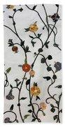 Floral Satin Bath Towel