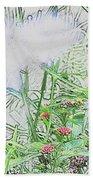 Floral Sketch Bath Towel