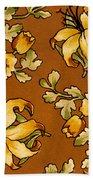 Floral Textile Design Bath Towel