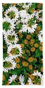 Floral Texture In The Summer Bath Towel