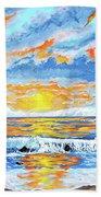 Florida Keys Beach Sunset Bath Towel