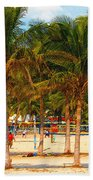 Florida Style Volleyball Bath Towel