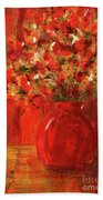Florists Red Bath Towel