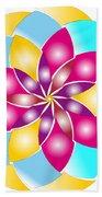 Flower 1317 - Abstract Art Print - Fantasy - Digital Art - Fine Art Print - Flower Print Hand Towel