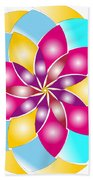 Flower 1317 - Abstract Art Print - Fantasy - Digital Art - Fine Art Print - Flower Print Bath Towel