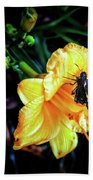 Flower And Butterfly Bath Towel