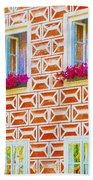 Flower Boxes In Slavonice Bath Towel