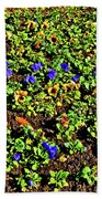 Flower Carpet. Sochi Arboretum. Bath Towel