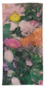 Flower Cart Bath Towel