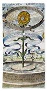 Flower Clock, 1643 Hand Towel