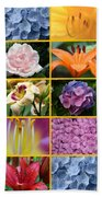 Flower Collage 1 Bath Towel