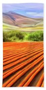 Flower Field Near Los Osos Bath Towel