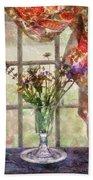 Flower - Flower - A Vase Of Flowers  Bath Towel