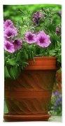 Flower Garden Pot Bath Towel