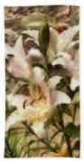 Flower - Lily - White Lily Bath Towel