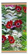 Flower Mania Anemone Fantasy Wave Design Created Of Garden Colors Unique Elegant Decorations Bath Towel
