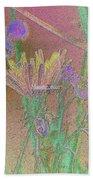 Flower Meadow Line Bath Towel
