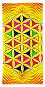 Flower Of Life Bath Towel