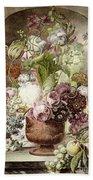 Flower Painting Bath Towel