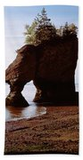Flower Pot Rocks On The Beach, Hopewell Bath Towel