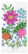 Flower Power 3 Hand Towel
