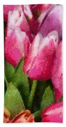 Flower - Tulip - A Young Girls Delight Bath Towel