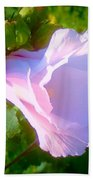 Flower With Painted Look Bath Towel