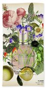 Flowerbomb Notes 3 - By Diana Van  Bath Towel