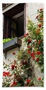 Flowered Window Bath Towel