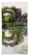 Flowering Arches, Giverny Bath Towel