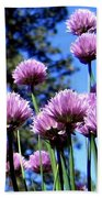 Flowering Chives Bath Towel