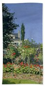 Flowering Garden At Sainte-adresse Hand Towel