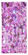 Flowering Plum Blossoms. Bath Towel