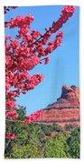 Flowering Tree - Sedona Red Rock Bath Towel