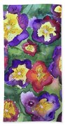 Pansy Party Bath Towel