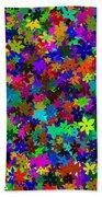 Flowers Abstract Bath Towel