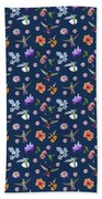 Flowers And Hummingbirds 2 Bath Towel by Rachel Lee Young
