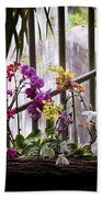 Flowers And Waterfall Bath Towel
