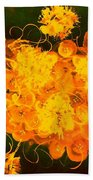 Flowers, Buttons And Ribbons -shades Of Orange/yellow  Bath Towel