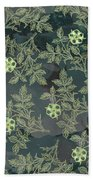Flowers Fabric Print Design Bath Towel