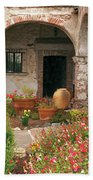 Flowers In The South Wing, Mission San Juan Capistrano, California Hand Towel