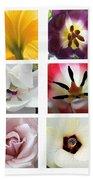 Flowers In The Yard Bath Towel