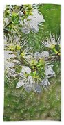 Flowers Of The Blackthorn Shrub Bath Towel
