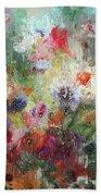 Flowers On Canvas Bath Towel
