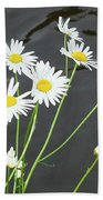 Flowers On The Water Bath Towel