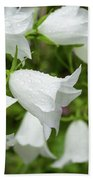 Flowers With Droplets 1 Bath Towel