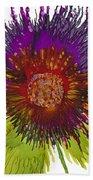 Flowerscape Thistle Bath Towel